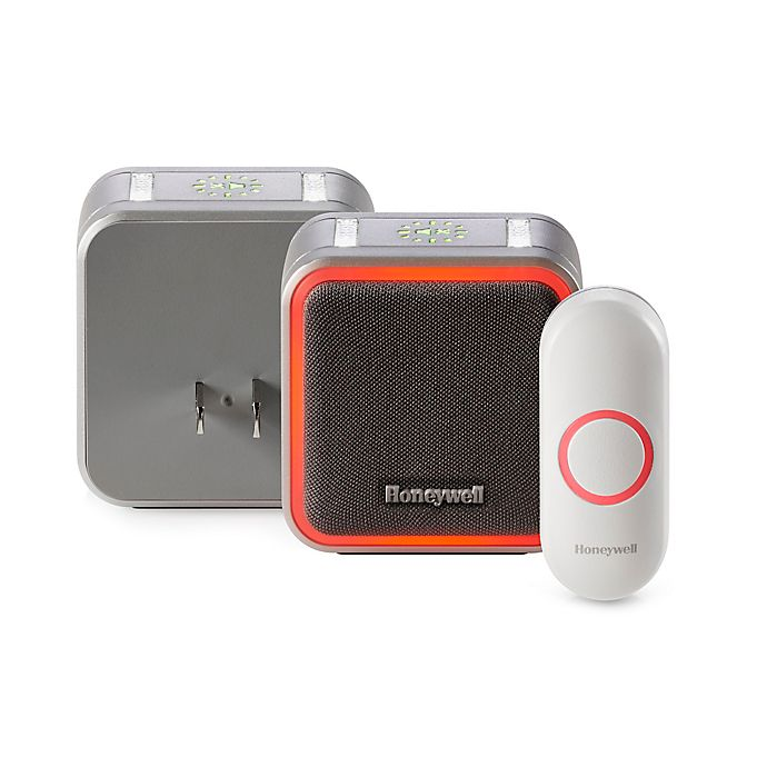 Alternate image 1 for Honeywell Series 5 Plug-In Wireless Doorbell with Halo Light and Pushbutton