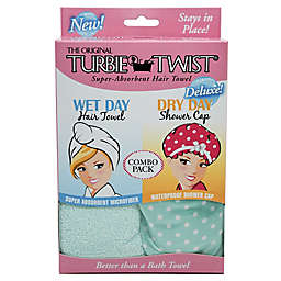 The Original Turbie Twist® Super-Absorbent Hair Towel Wet Day/Dry Day Combo Pack