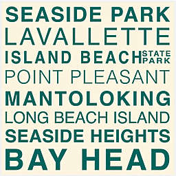 Thirstystone® Central Jersey Shore Typography Trivet
