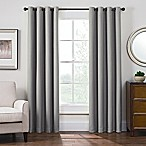 Antique Satin 63-Inch Room-Darkening Grommet Top Window Curtain Panel in Grey