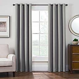 Antique Satin Room-Darkening Grommet Top Window Curtain Panel (Single)