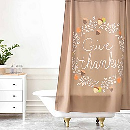 Deny Designs Lisa Argyropoulos Giving Thanks Shower Curtain