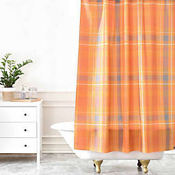 Deny Designs Allyson Johnson Fall Time Plaid Shower Curtain in Orange
