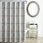 Waterford® Jonet Shower Curtain in Cream/Aqua