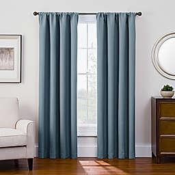 Antique Satin Room-Darkening Rod Pocket Window Curtain Panel (Single)