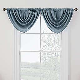 Antique Satin Room-Darkening Rod Pocket Window Valance