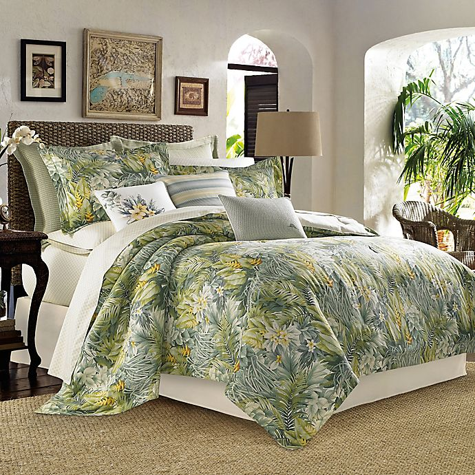 Tommy Bahama Palms Away Full//Queen 4-Piece Comforter Set in Sage