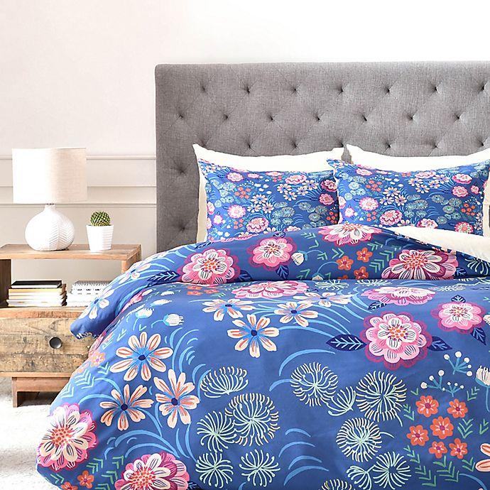 Alternate image 1 for Deny Designs Pimlada Phuapradit Floral Gems Duvet Cover
