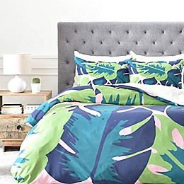 Deny Designs Zoe Wodarz Patio Party Duvet Cover in Green