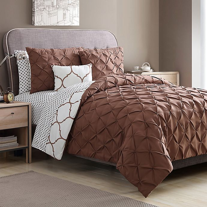 Alternate image 1 for VCNY Home Ogee 9-Piece Comforter Set in Copper