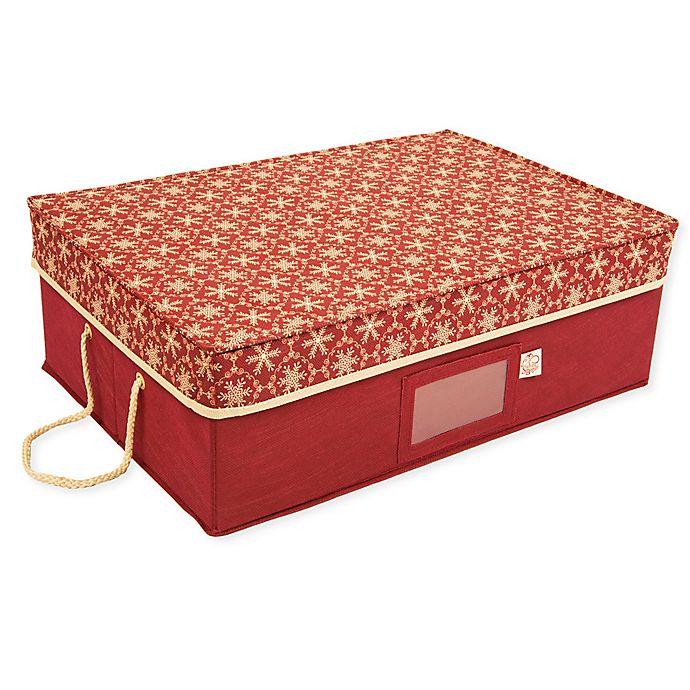 Alternate image 1 for TreeKeeper® Santa's Bags Snowflake Ornament Storage Box