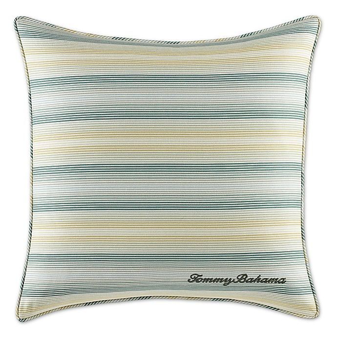 Alternate image 1 for Tommy Bahama® Cuba Cabana Square Stripe Throw Pillow