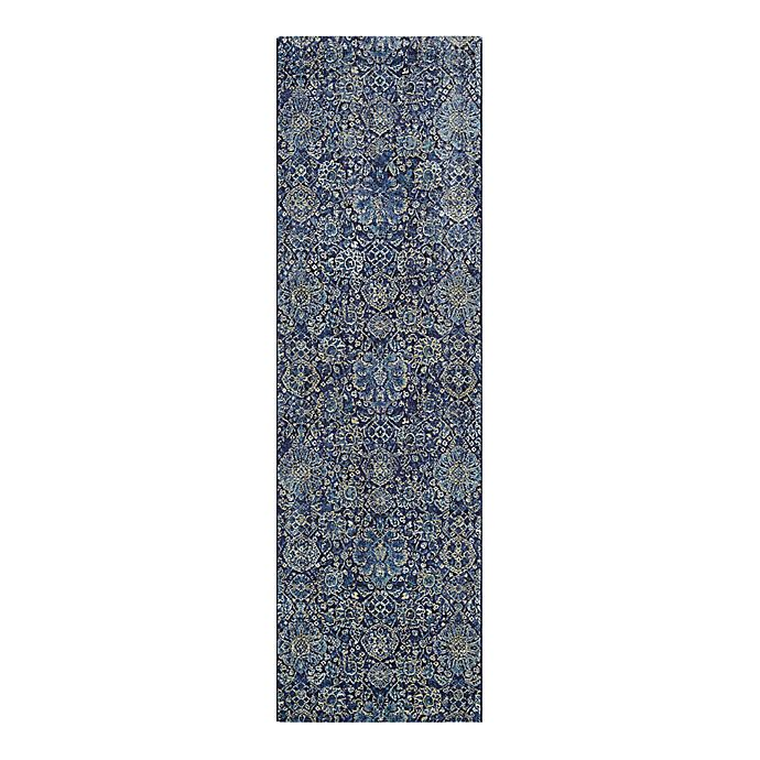 Alternate image 1 for Couristan® Easton Winslet 2-Foot 7-Inch x 7-Foot 10-Inch Rug in Navy