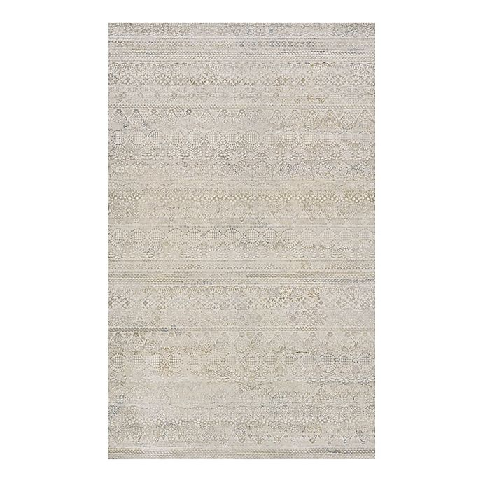 Alternate image 1 for Couristan® Easton Capella 3-Foot 11-Inch x 5-Foot 3-Inch Rug in Ivory/Grey