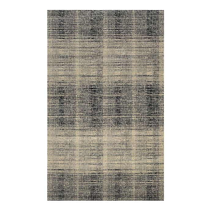 Alternate image 1 for Couristan® Easton Suffolk 3-Foot 11-Inch x 5-Foot 3-Inch Rug in Black/Grey