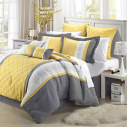 Chic Home Bryce 8-Piece King Comforter Set in Yellow
