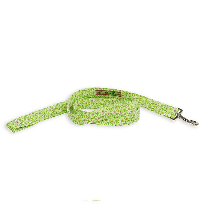 Alternate image 1 for Donna Devlin Designs® Large Daisy Do II Dog Leash in Pink/Green