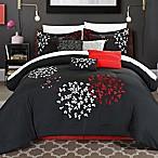 Chic Home Budz 8-Piece Queen Comforter Set in Black