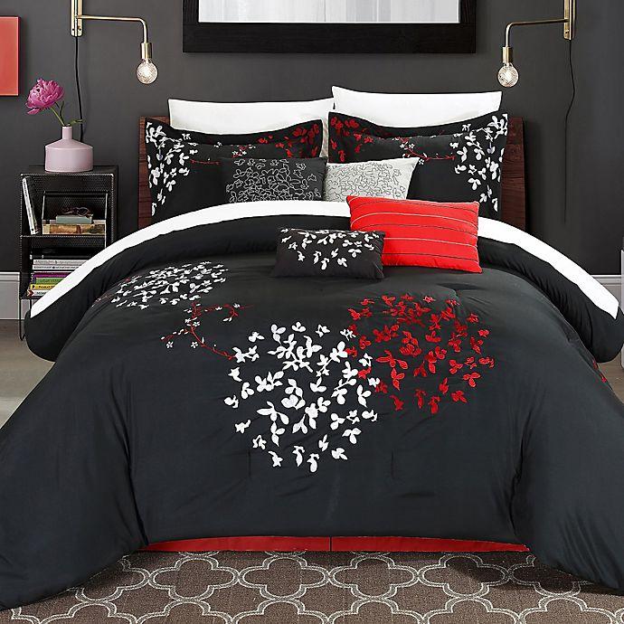Alternate image 1 for Chic Home Budz 8-Piece King Comforter Set in Black