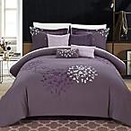 Chic Home Budz 8-Piece Queen Comforter Set in Purple