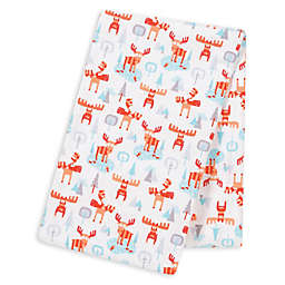 Trend Lab® Winter Moose Deluxe Flannel Swaddle Blanket