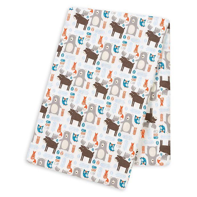 Alternate image 1 for Trend Lab® Scandi Forest Deluxe Flannel Swaddle Blanket