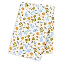 Trend Lab® Animal Teepee Deluxe Flannel Swaddle Blanket