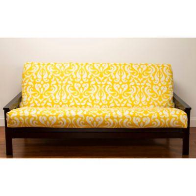 Siscovers 174 Adele Microfiber Futon Slipcover In Yellow