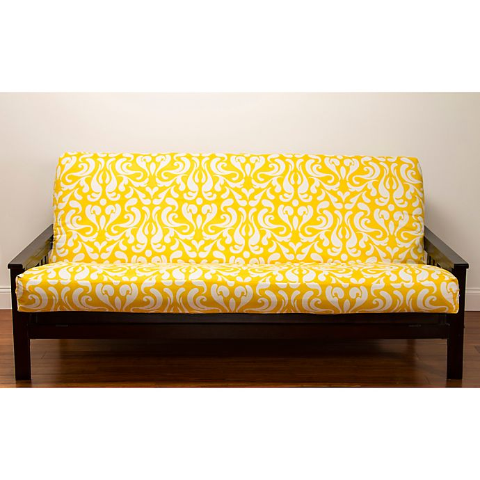 Alternate image 1 for SIScovers® Adele Microfiber Futon Slipcover in Yellow/White