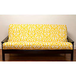 SIScovers® Adele Microfiber Futon Slipcover in Yellow/White
