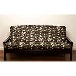 Siscovers Galaxy Camo Microfiber Futon Slipcover In Green