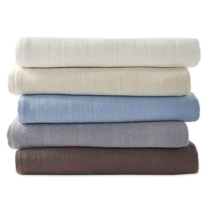 Alternate image 1 for Eddie Bauer® Herringbone Cotton Blanket