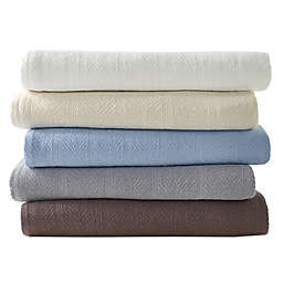 Eddie Bauer® Herringbone Cotton Blanket