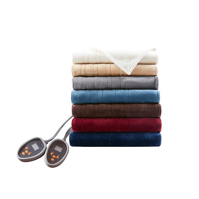 Alternate image 1 for Woolrich Heated Plush to Berber Blanket