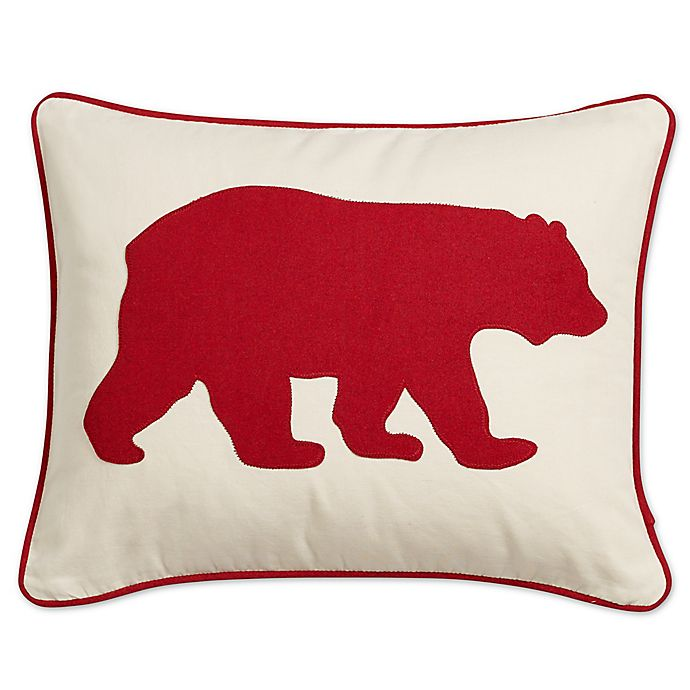 Alternate image 1 for Eddie Bauer® Bear 16-Inch x 20-Inch Oblong Throw Pillow