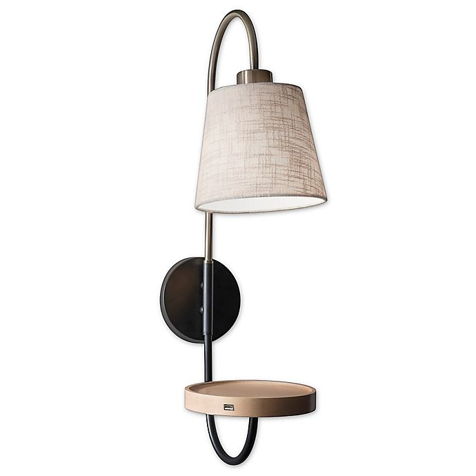 Alternate image 1 for Adesso® Jeffrey Wall Lamp in Brass
