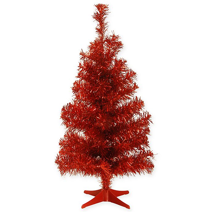 Tinsel Christmas Tree: Buy National Tree 3-Foot Tinsel Christmas Tree In Black
