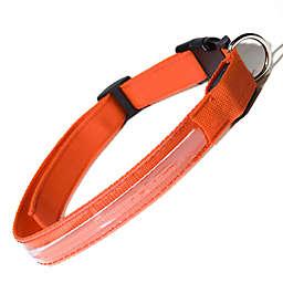 OxGord® Large Flashing LED Dog Collar in Orange