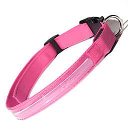 OxGord® Small Flashing LED Dog Collar in Pink