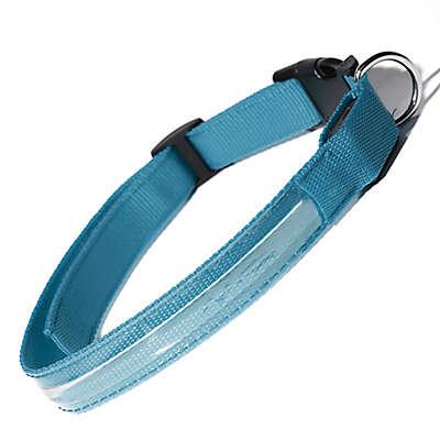 OxGord® Small Flashing LED Dog Collar in Blue
