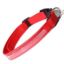 OxGord® Large Flashing LED Dog Collar in Red