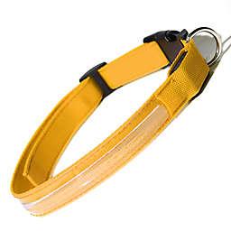 OxGord® Large Flashing LED Dog Collar in Yellow
