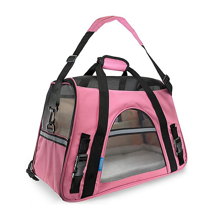 Alternate image 1 for OxGord Large Soft Sided Dog/Cat Carrier in Pink