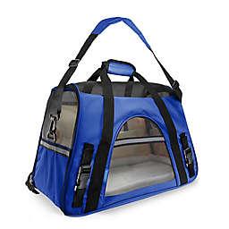OxGord Small Soft Sided Dog/Cat Carrier in Dark Blue