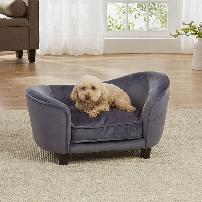 Alternate image 1 for Enchanted Home Pet Small Ultra Plush Snuggle Bed in Dark Grey