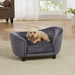 Enchanted Home Pet Small Ultra Plush Snuggle Bed in Dark Grey