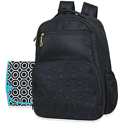 Jonathan Adler® Quilted Backpack Diaper Bag in Black