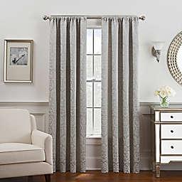 Serena 108-Inch Rod Pocket/Back Tab Window Curtain Panel in Grey