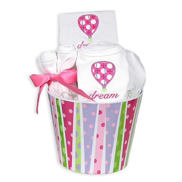 Alternate image 1 for Raindrops Flying Machines 8-Piece Balloon Gift Set in Pink