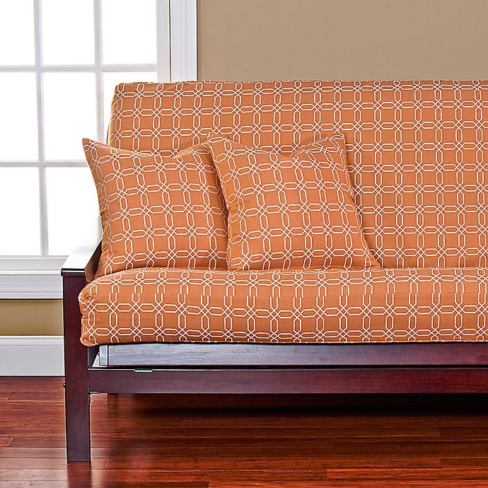 Superb Siscovers Mandarin Futon Cover In Orange White Bed Bath Alphanode Cool Chair Designs And Ideas Alphanodeonline